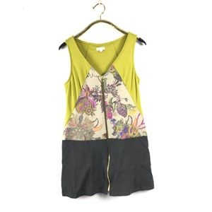 WESTON Anthropologie Abstract Floral Dress M